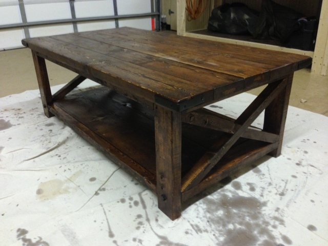 Ana White Rustic X Stlye Coffee Table DIY Projects
