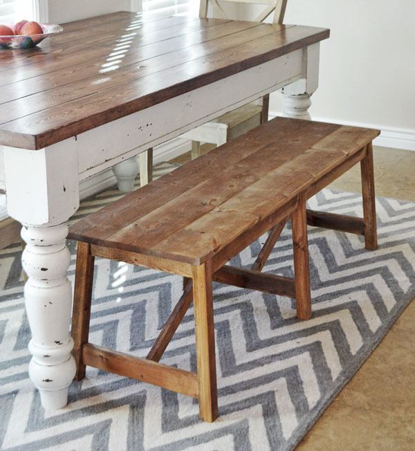 Rustic Kitchen Table Plans: Rustic Double X Bench - DIY Projects