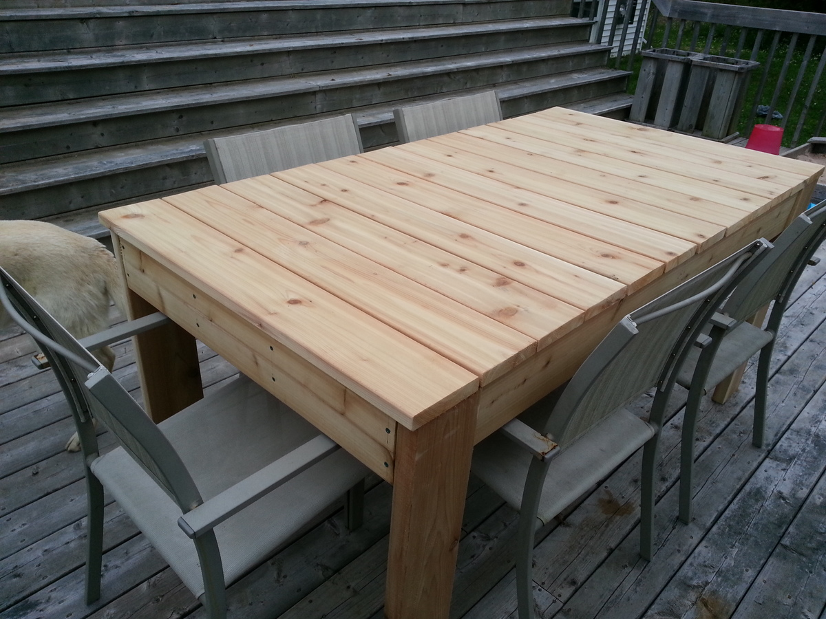 Ana White Red Cedar Simple Outdoor Dining Table Diy Projects