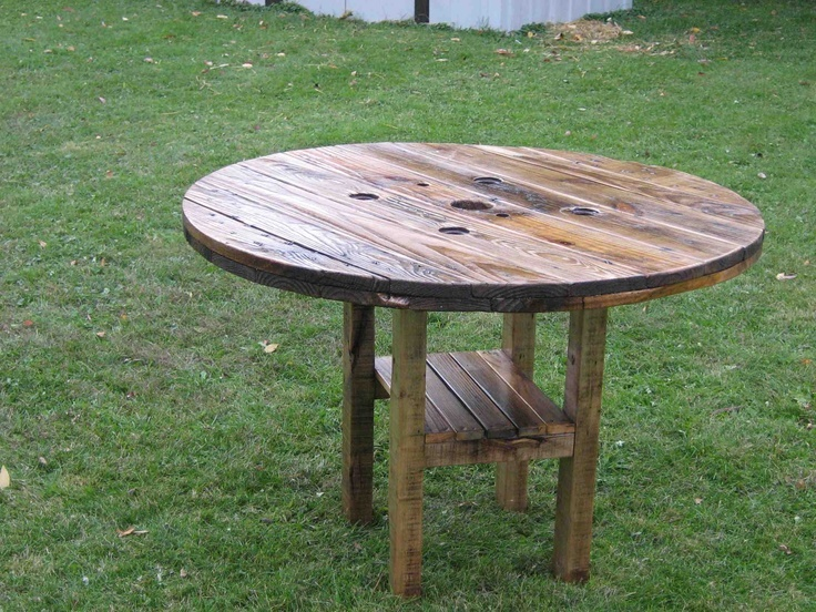 Beautiful Rustic Patio Table
