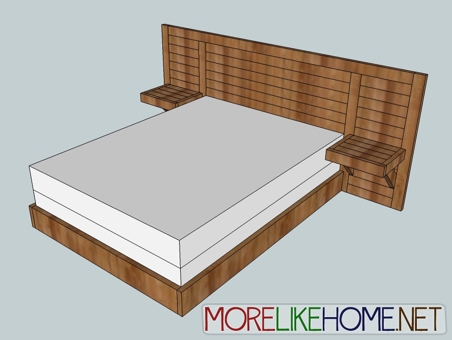 Ana white 2x4 simple modern bed diy projects for Simple bed diy