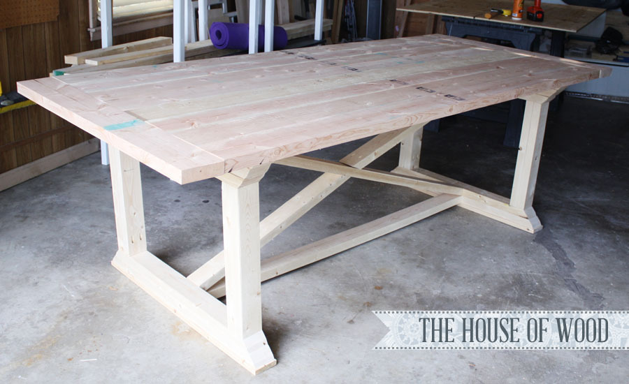 Free Plans To Build A X Cross Support Dining Table From Ana White