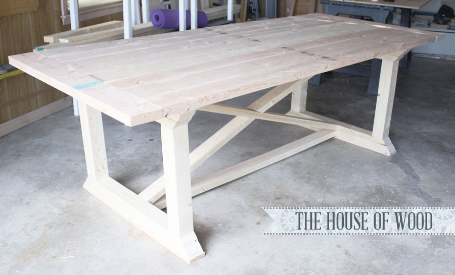 Farmhouse table with X base