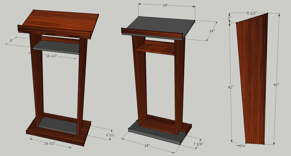 Ana White Church Pulpit DIY Projects
