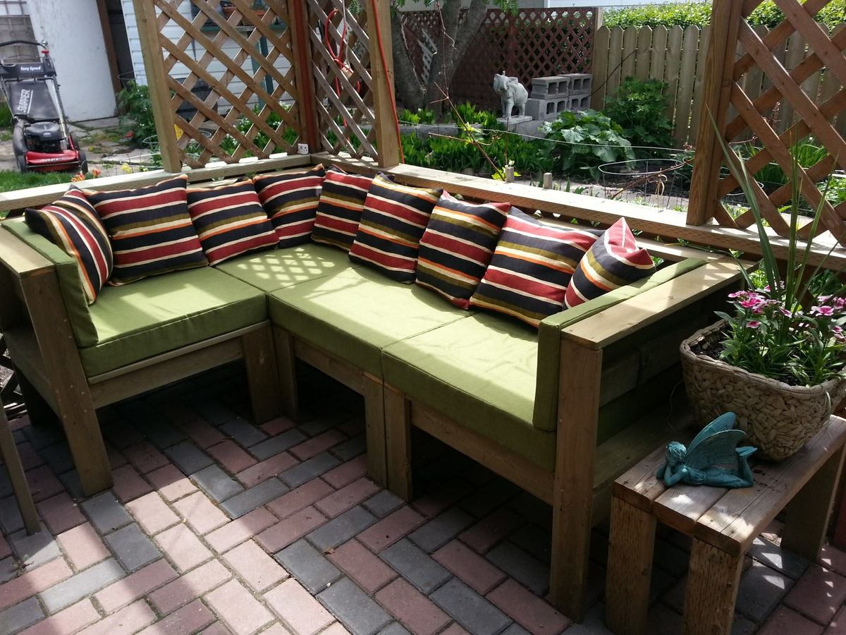 Diy sofa plans build your own couch build your own couch with - Fine Diy Outdoor Sectional Sectionalbudget Friendly 300 D With Decor