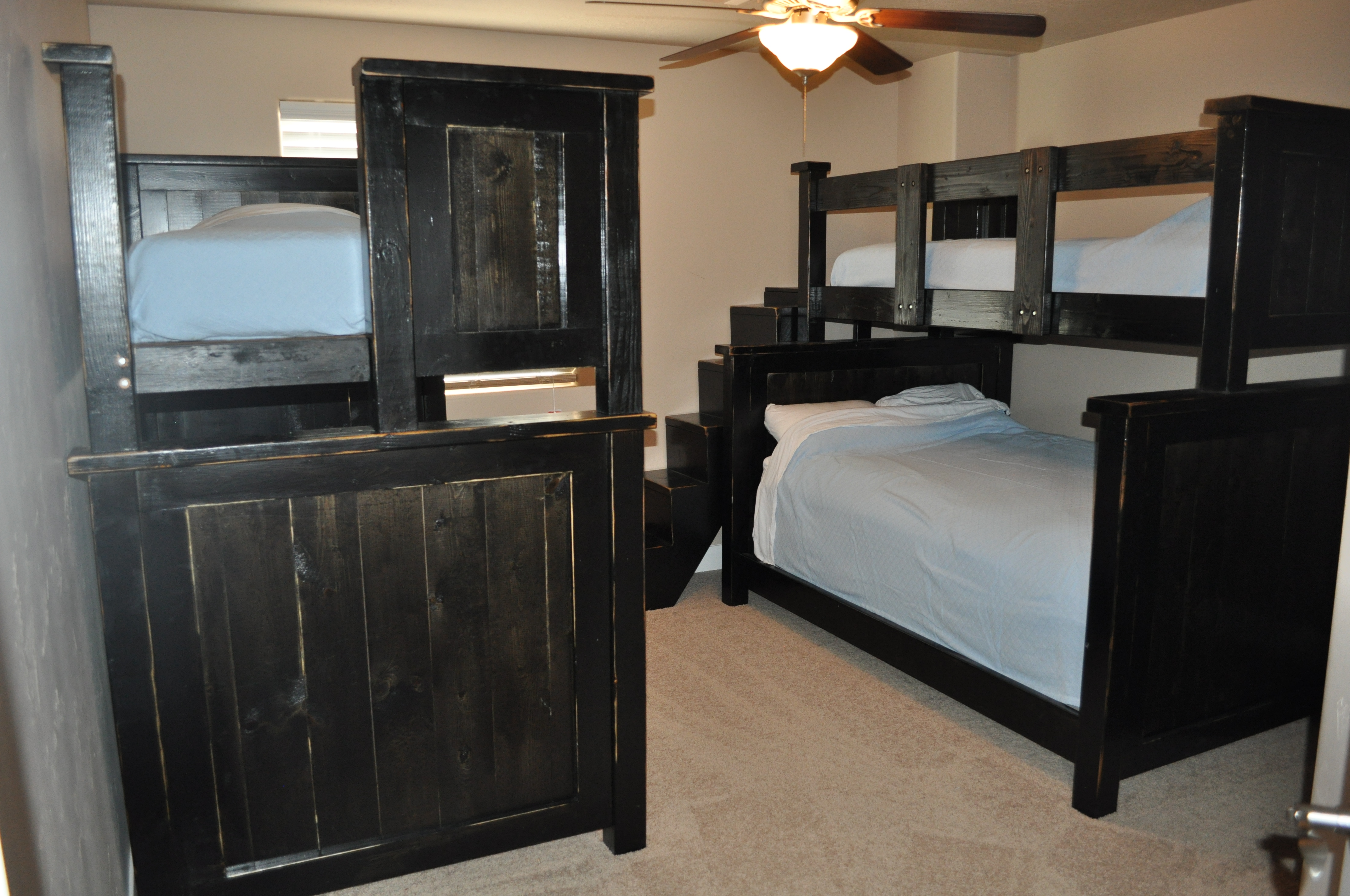 Farmhouse Bunkbeds With Stairs Ana White