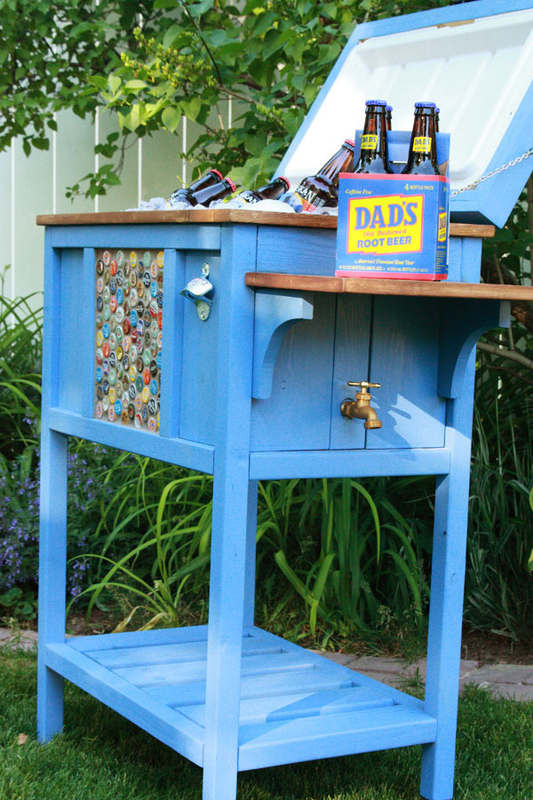 Ana white wood cooler by birds and soap diy projects for Wooden beer cooler plans