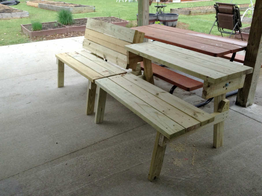 Ana White Picnic Table That Converts To Benches Cedar