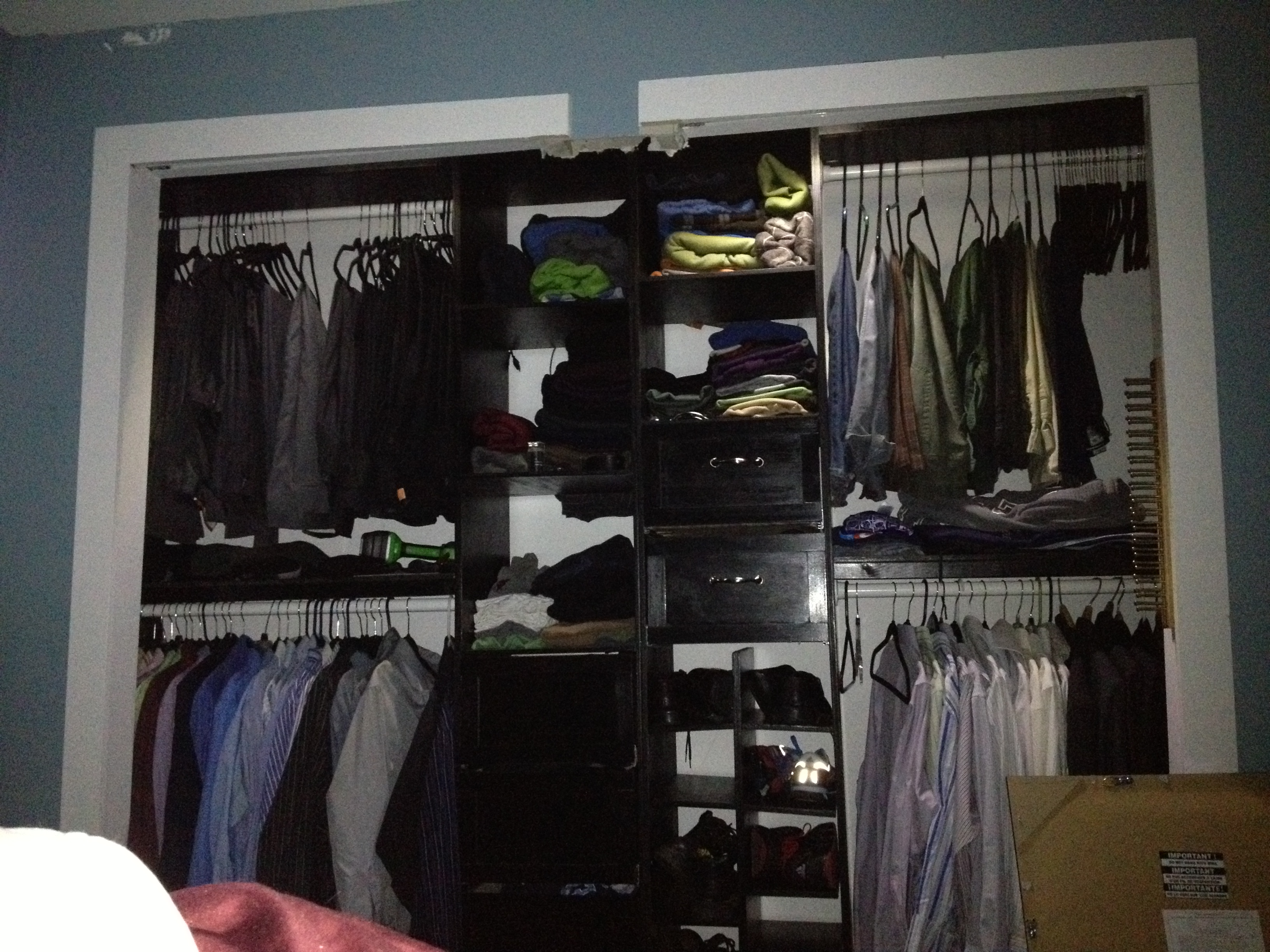 ana white master bedroom closet organizer before and 16011 | 3154828385 1370965257 jpg
