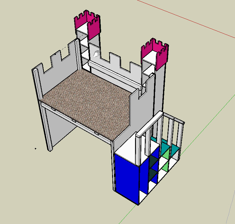 Ana White Princess Castle With Space For Toddler Bed