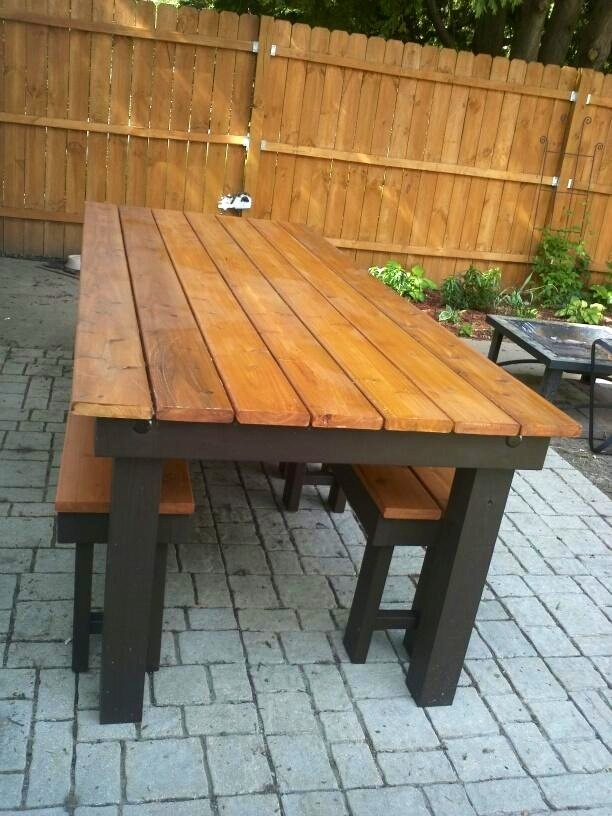 Magnificent Modified Rustic Table And Benches Ana White Machost Co Dining Chair Design Ideas Machostcouk