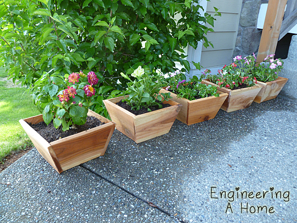 Ana white mother 39 s day cedar planter boxes diy projects for Tapered planter box plans