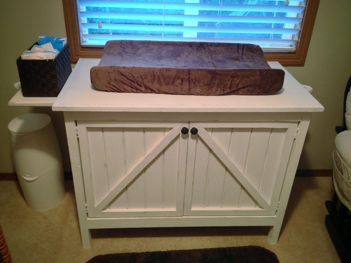 Ana White A Changing Table Dresser For My Son S Rustic