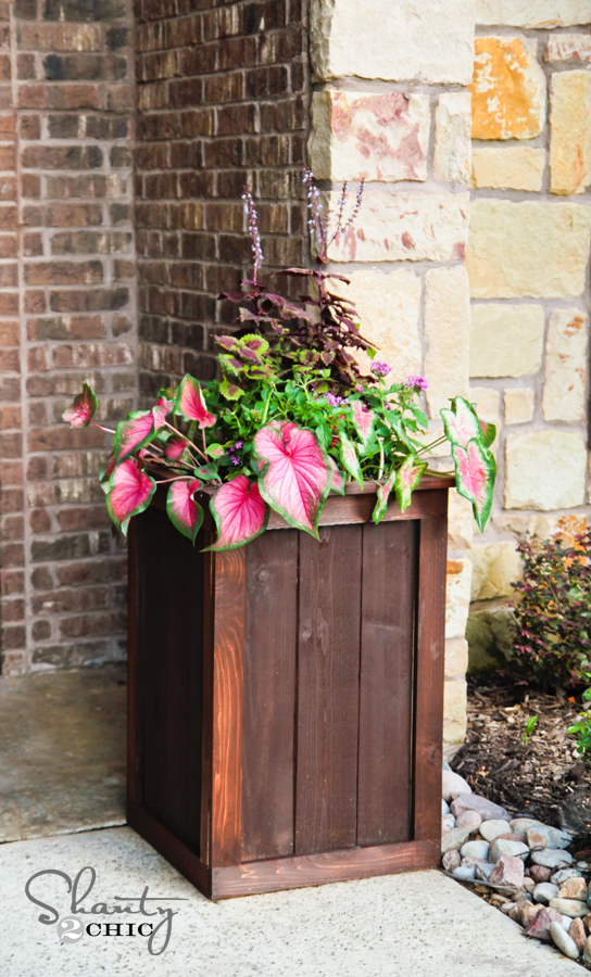 cedar frame and panel planter