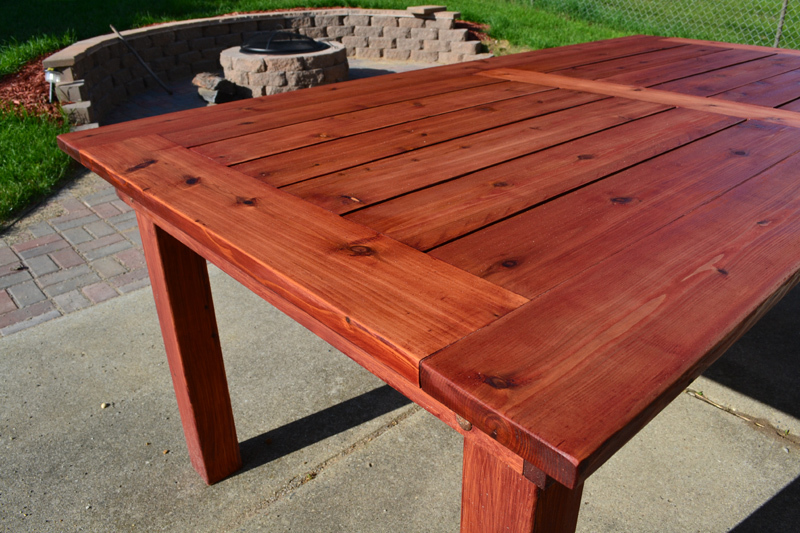 Cedar Wood Furniture Plans ~ Ana white beautiful cedar patio table diy projects