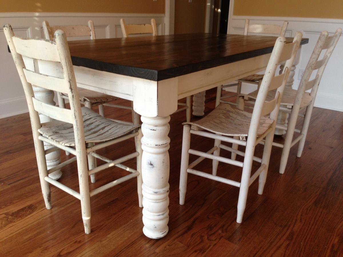 chunky farmhouse table legs Ana White | Husky Farmhouse Table   DIY Projects chunky farmhouse table legs