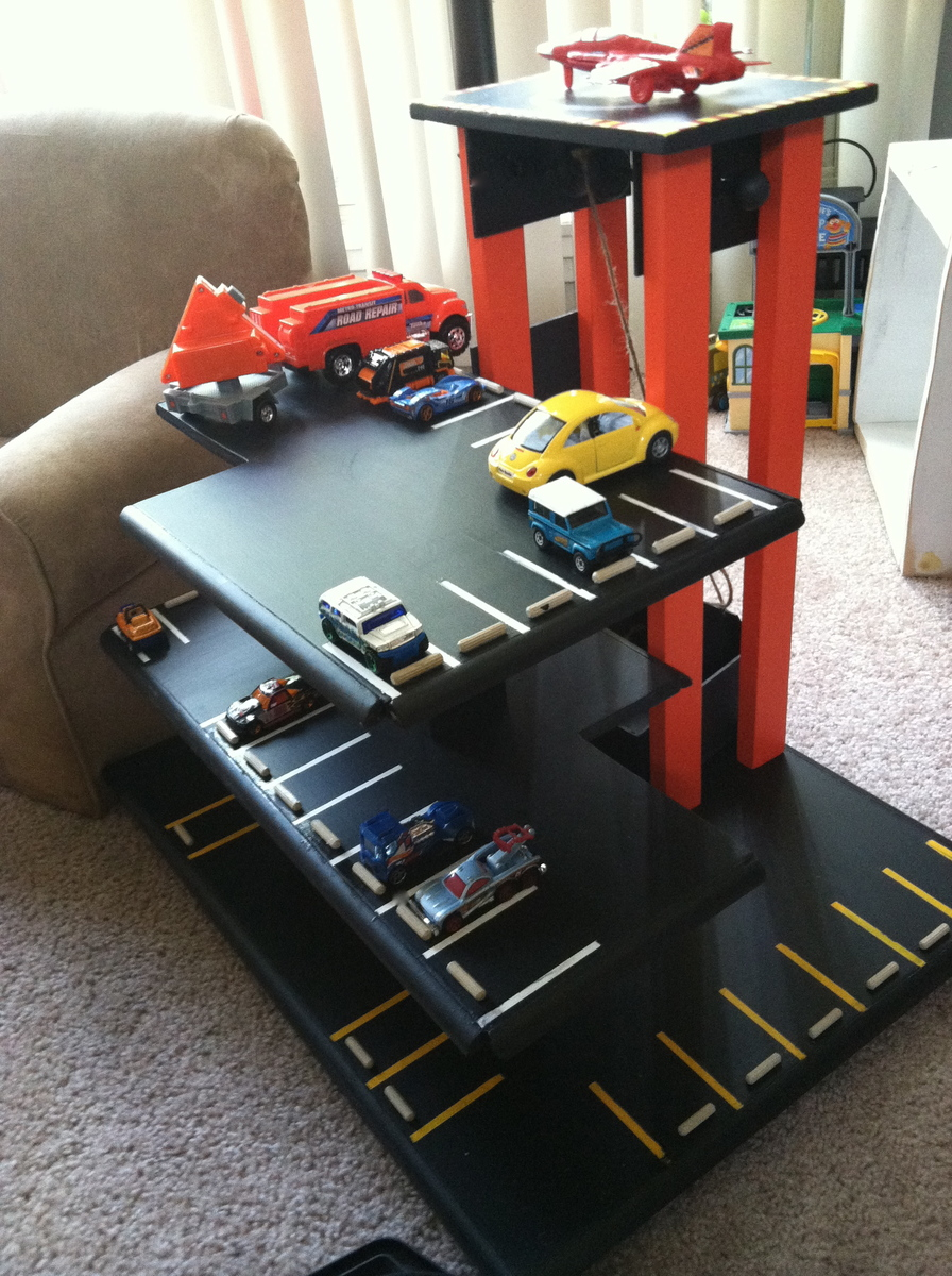 Build Wooden Toy Garage