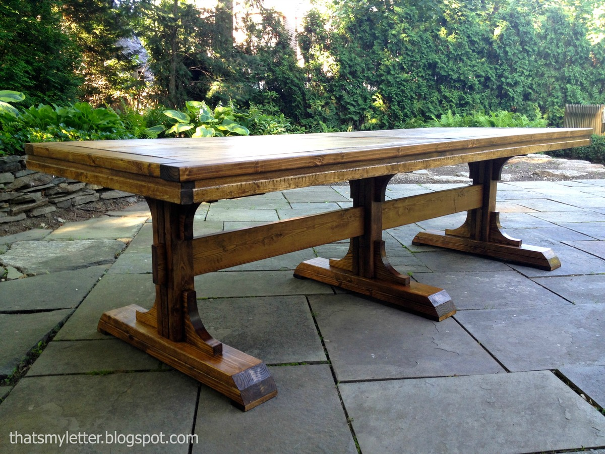 Ana White | triple pedestal dining table - DIY Projects