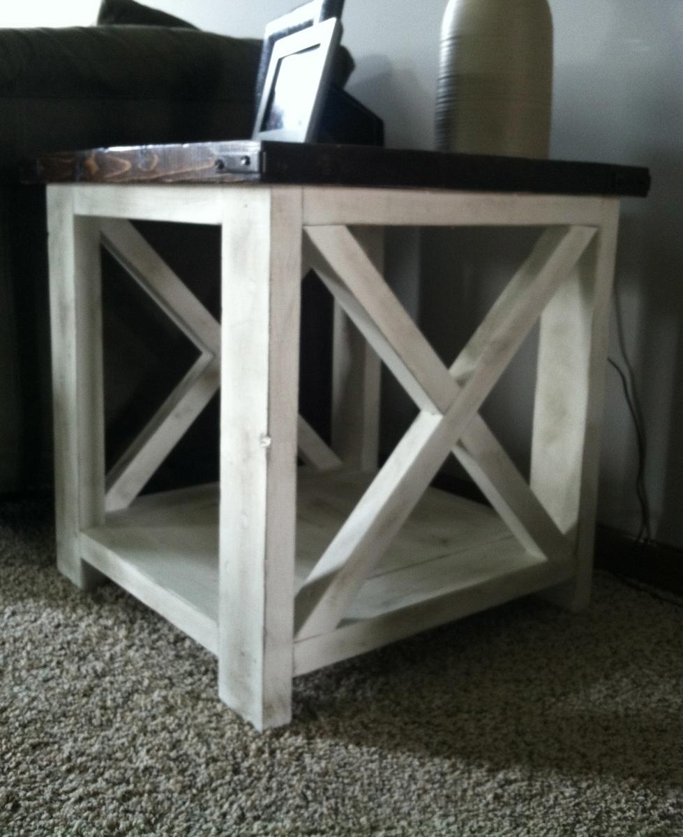 Rustic X Coffee Table Ana White
