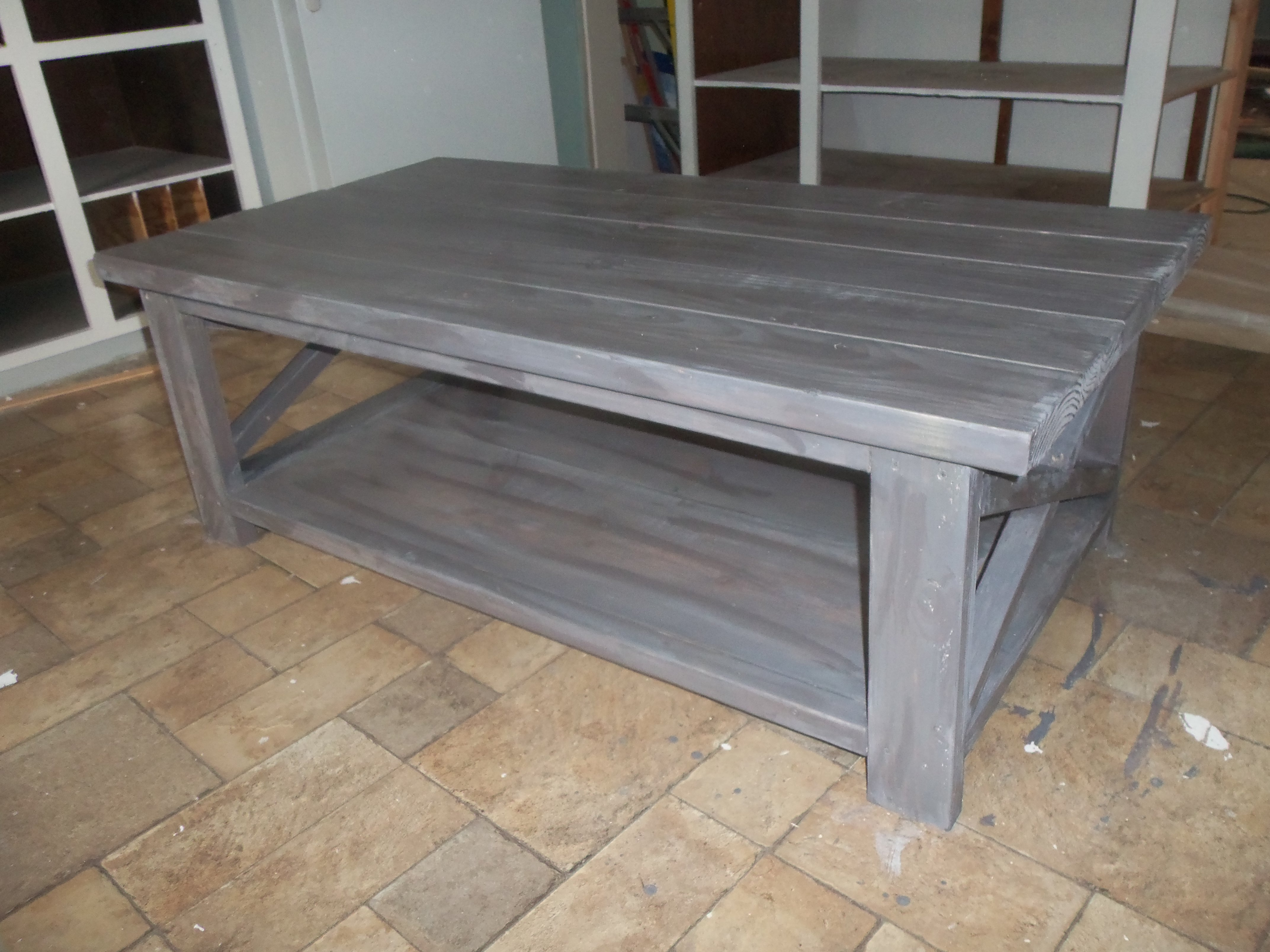 Rustic X Coffee Table The Schorr Thing Ana White