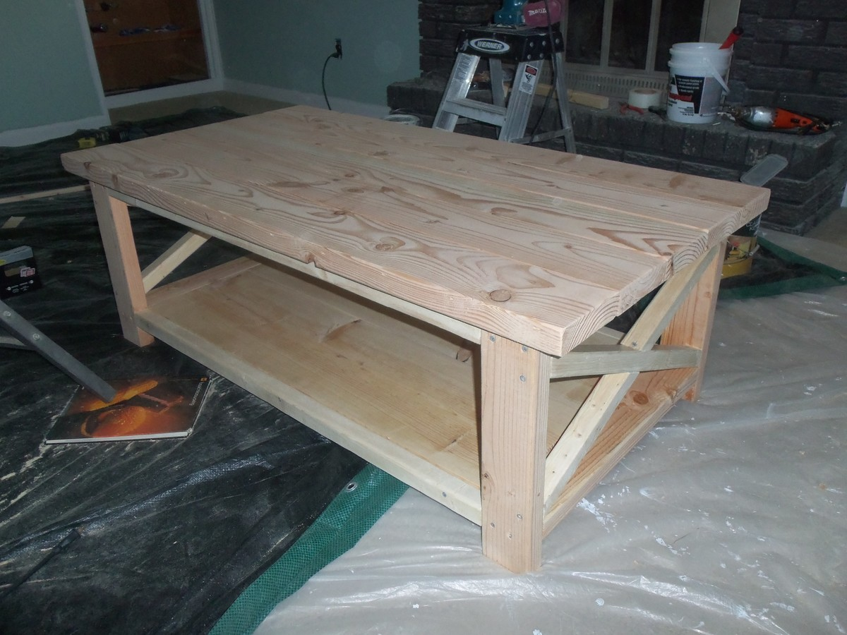 ana white rustic x coffee table the schorr thing diy projects. Black Bedroom Furniture Sets. Home Design Ideas