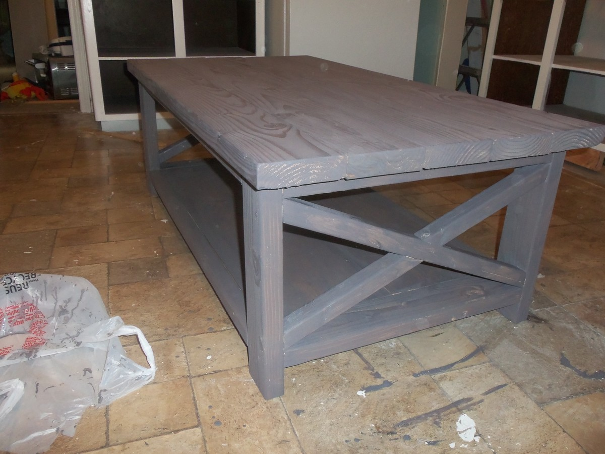 Rustic Grey Coffee Table Rascalartsnyc
