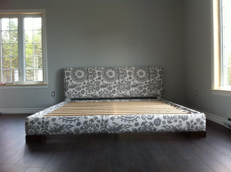 upholstered bed frame king size