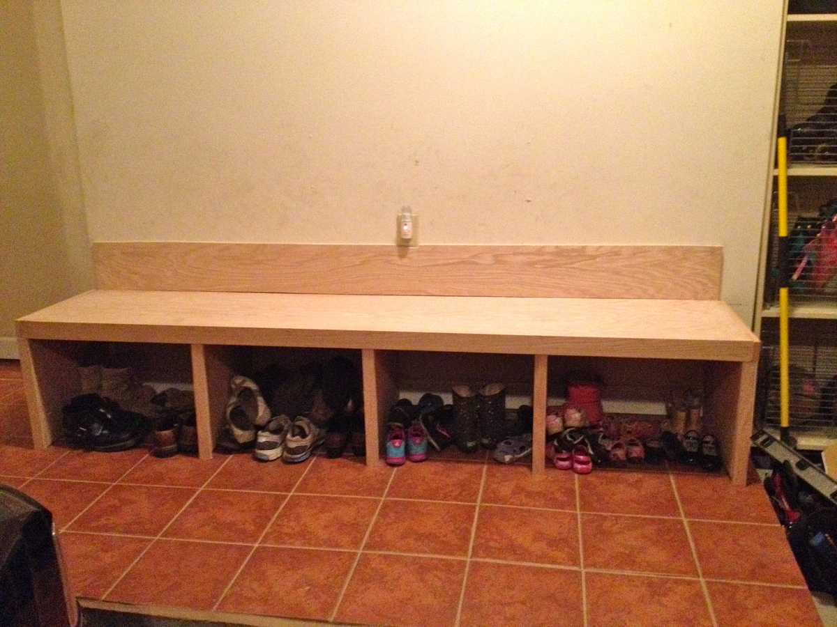 Our Much Reciated Mudroom Bench