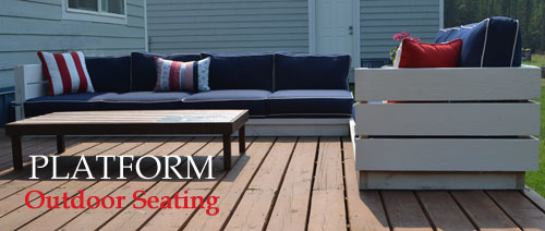 Ana White Platform Outdoor Sectional DIY Projects
