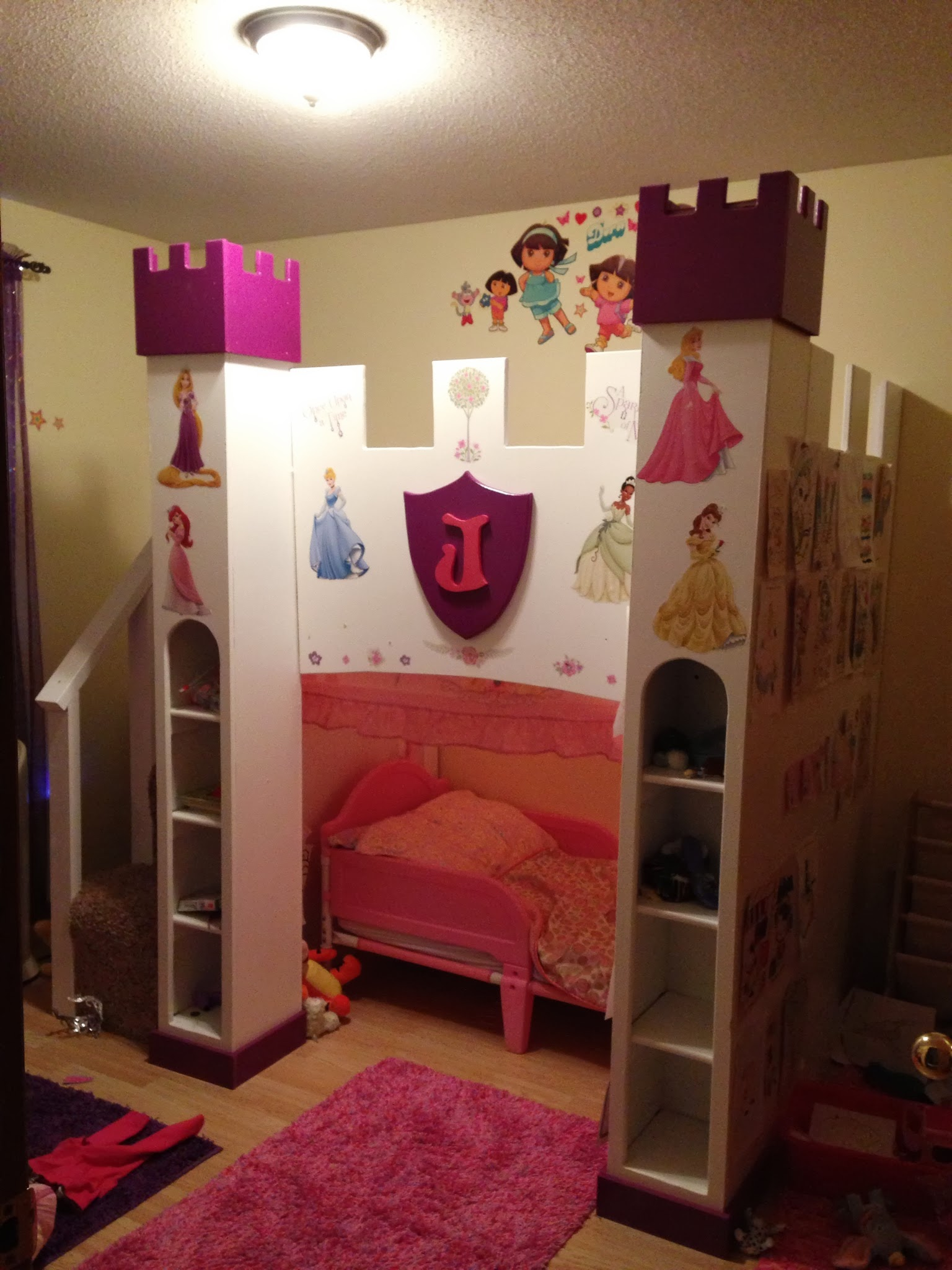 Princess Bed Blueprints Ana White Princess Castle With Space For Toddler Bed Diy Projects