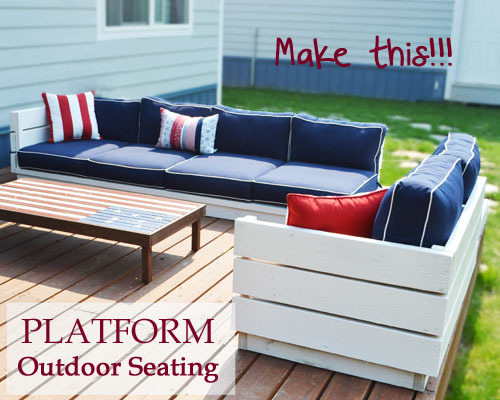 Ana white build a platform outdoor sectional with end table part 2