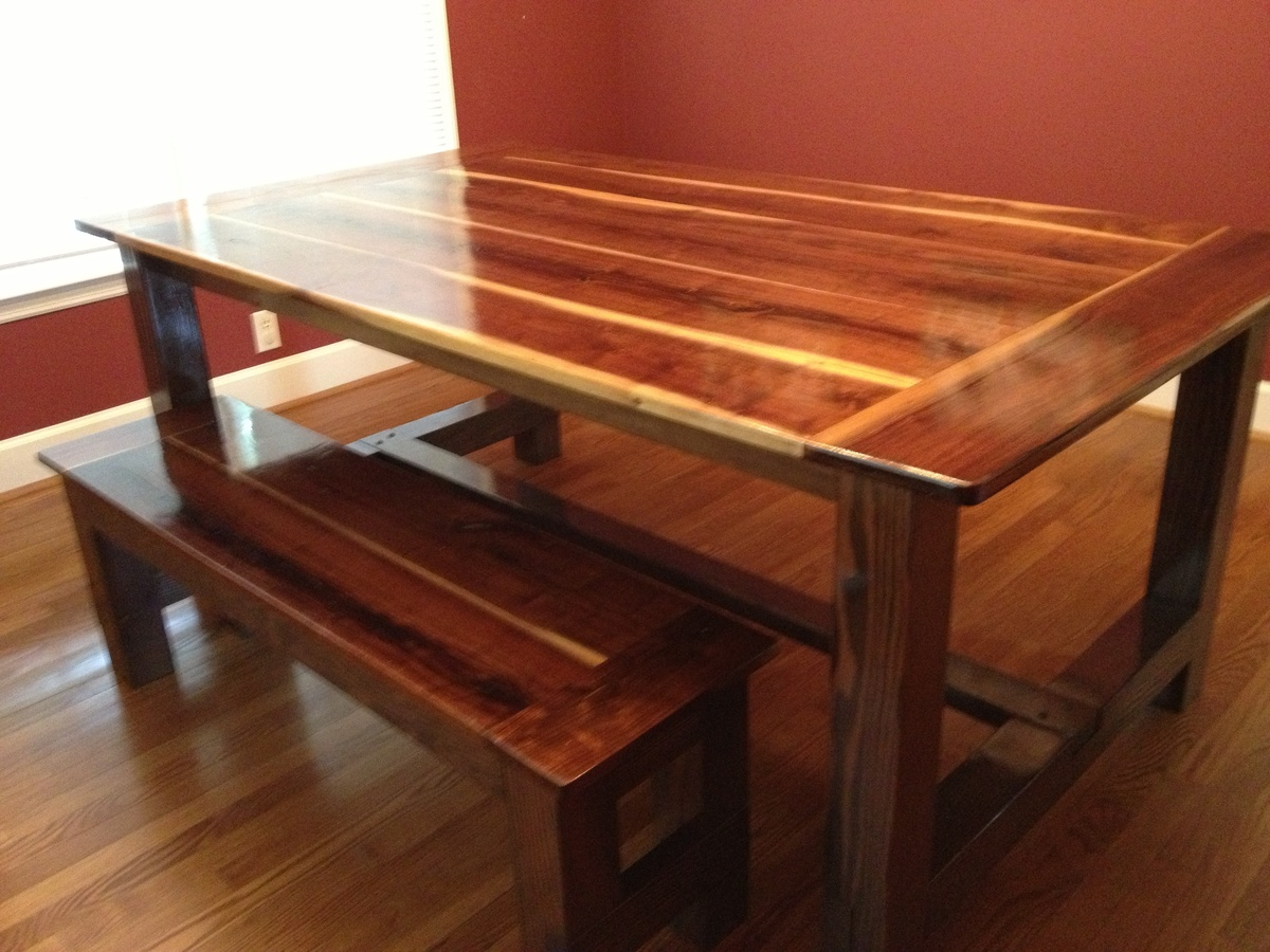 Black Walnut Farmhouse Table