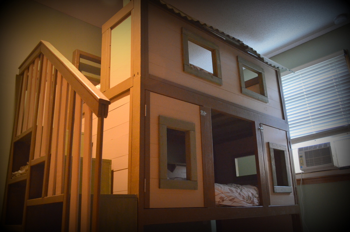 Picture of: Treehouse Bunk Bed Ana White