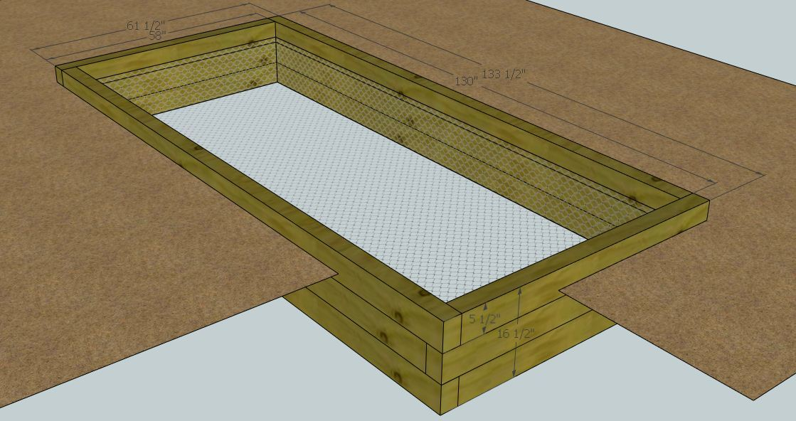 Ana white easy garden bed plans diy projects for Garden bed plans