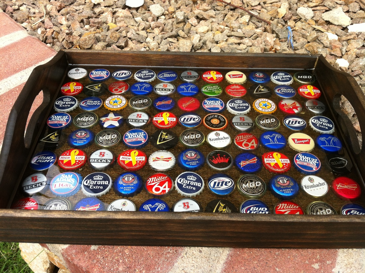 ana white bottle cap tray diy projects