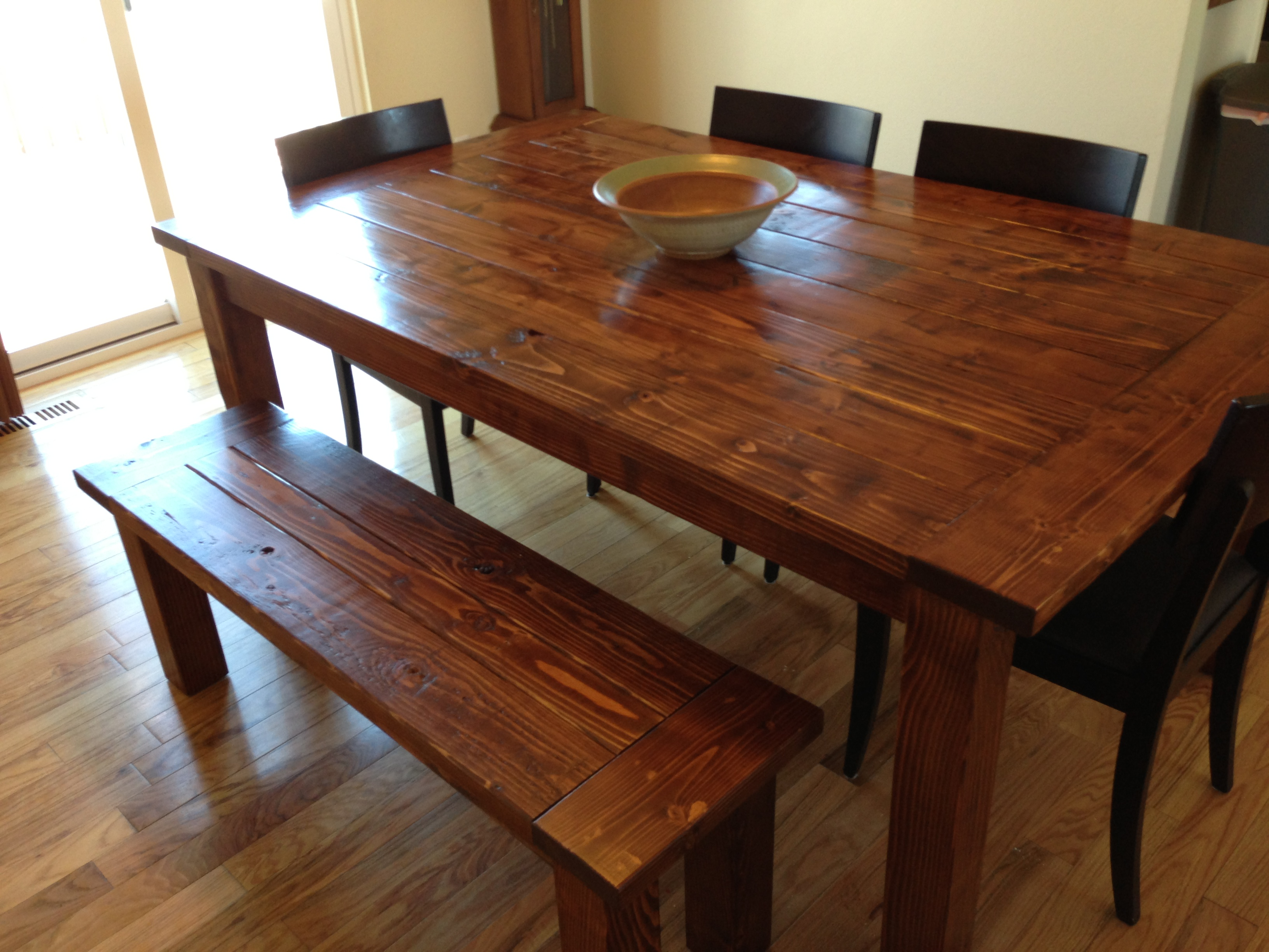 Ana White Modified Farmhouse Table Diy Projects