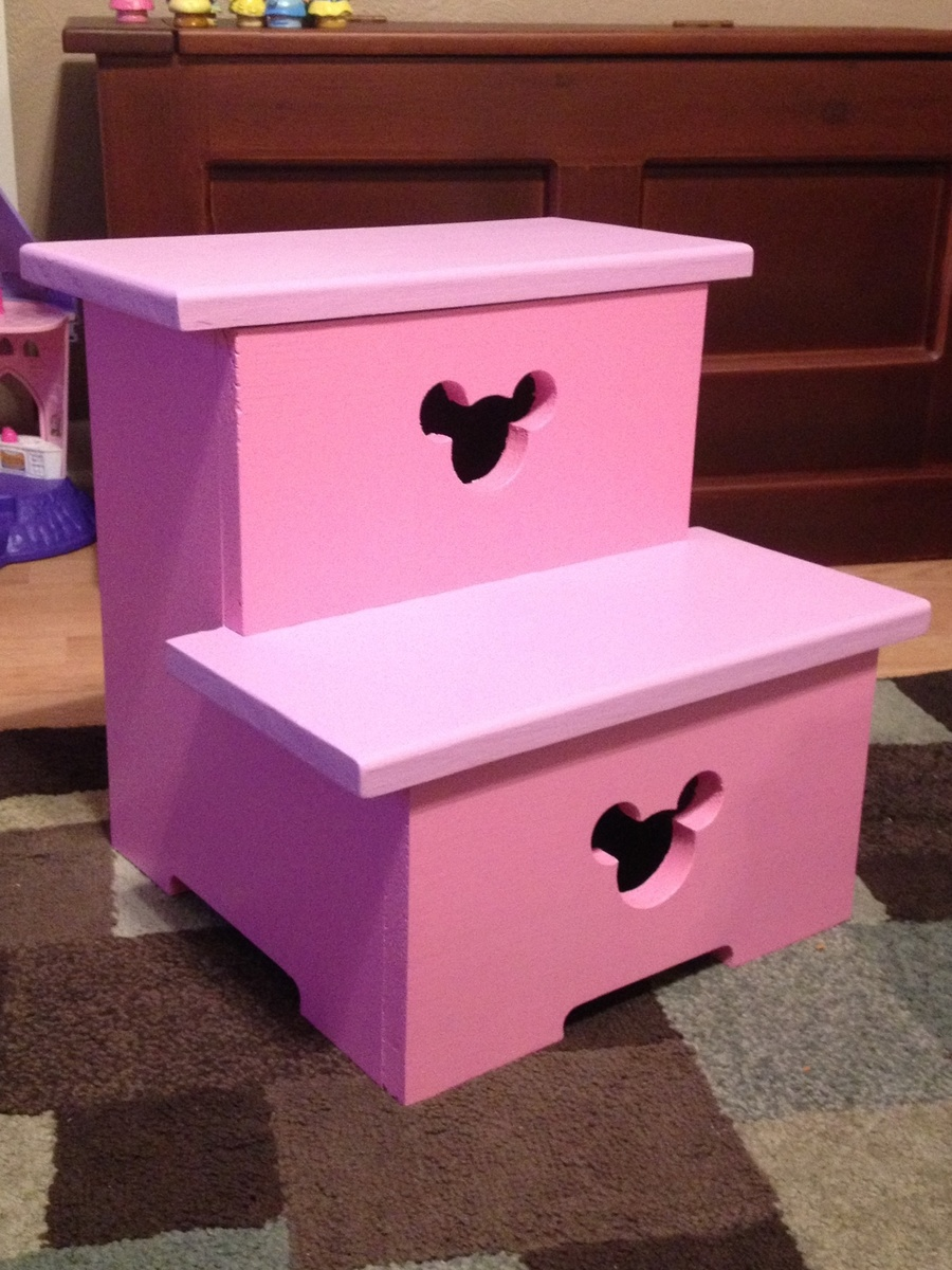 Ana White Minnie Mouse Step Stool Diy Projects