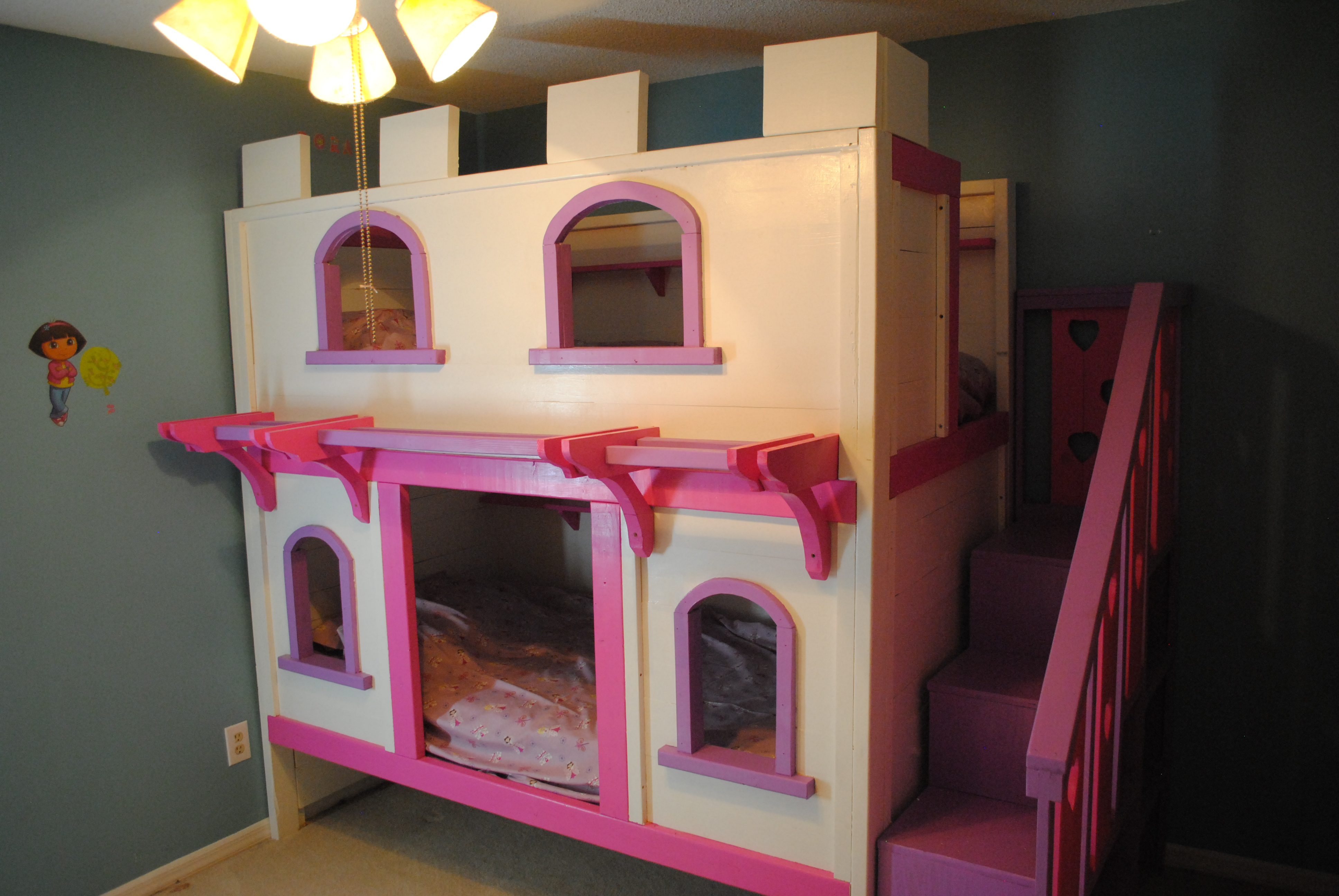 Ana White Castle Bunk Bed Diy Projects