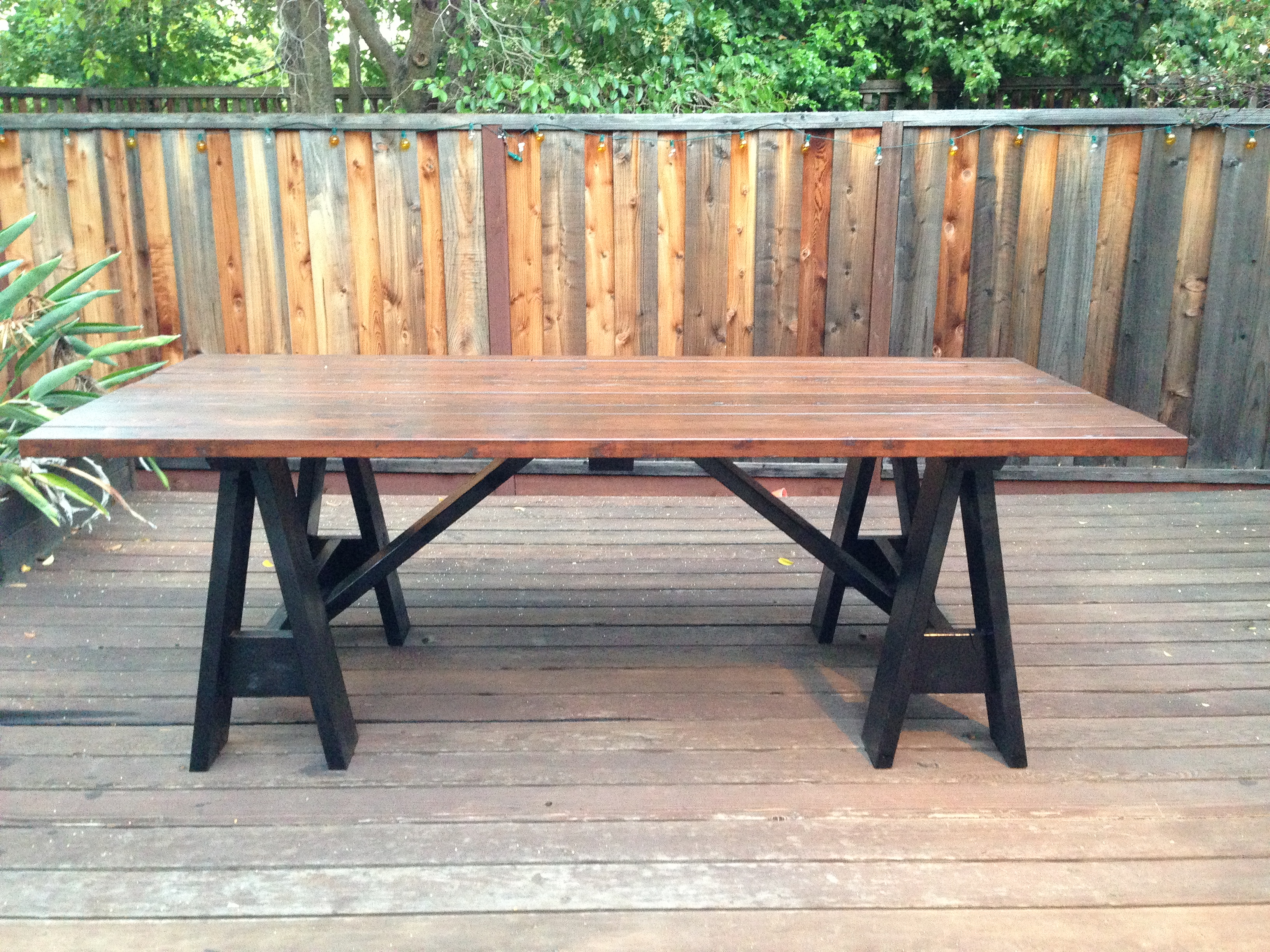 ana white sawhorse outdoor table by my lyon men diy