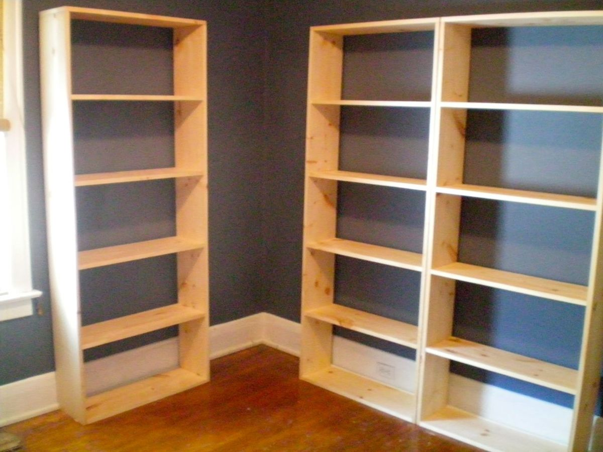 Amazing photo of Ana White Bookshelf wall unit DIY Projects with #9D682E color and 1280x960 pixels