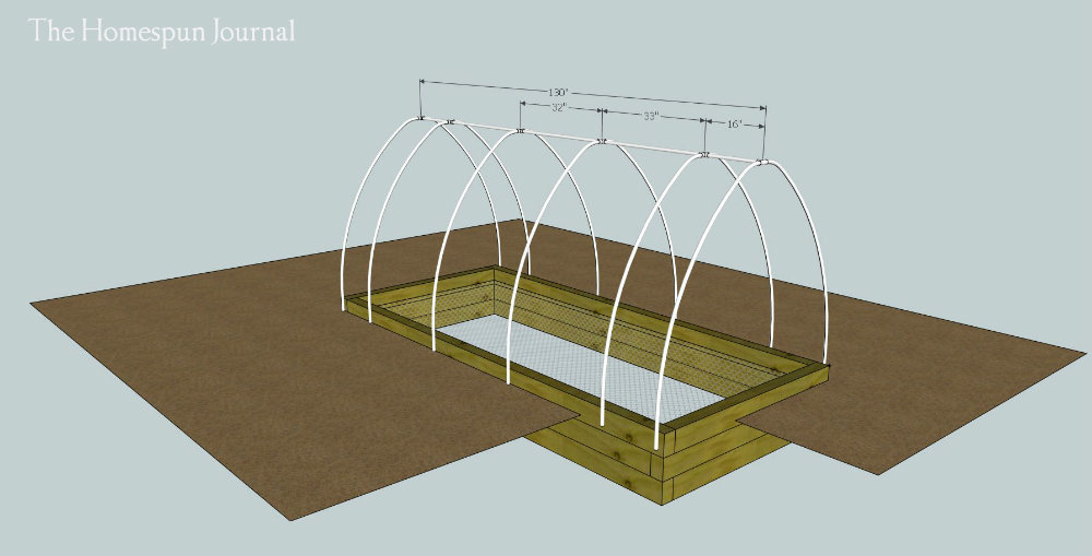 Ana White DIY Garden Bed with Hoop Frame DIY Projects