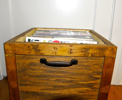 diy lp vinyl record storage box with wheels