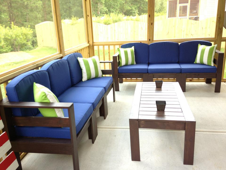 Ana White | Simple Outdoor Sectional - DIY Projects