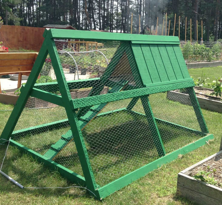 door chicken coop ideas a frame chicken tractor plans