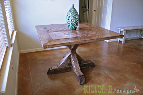 Square X Base Pedestal Dining Table