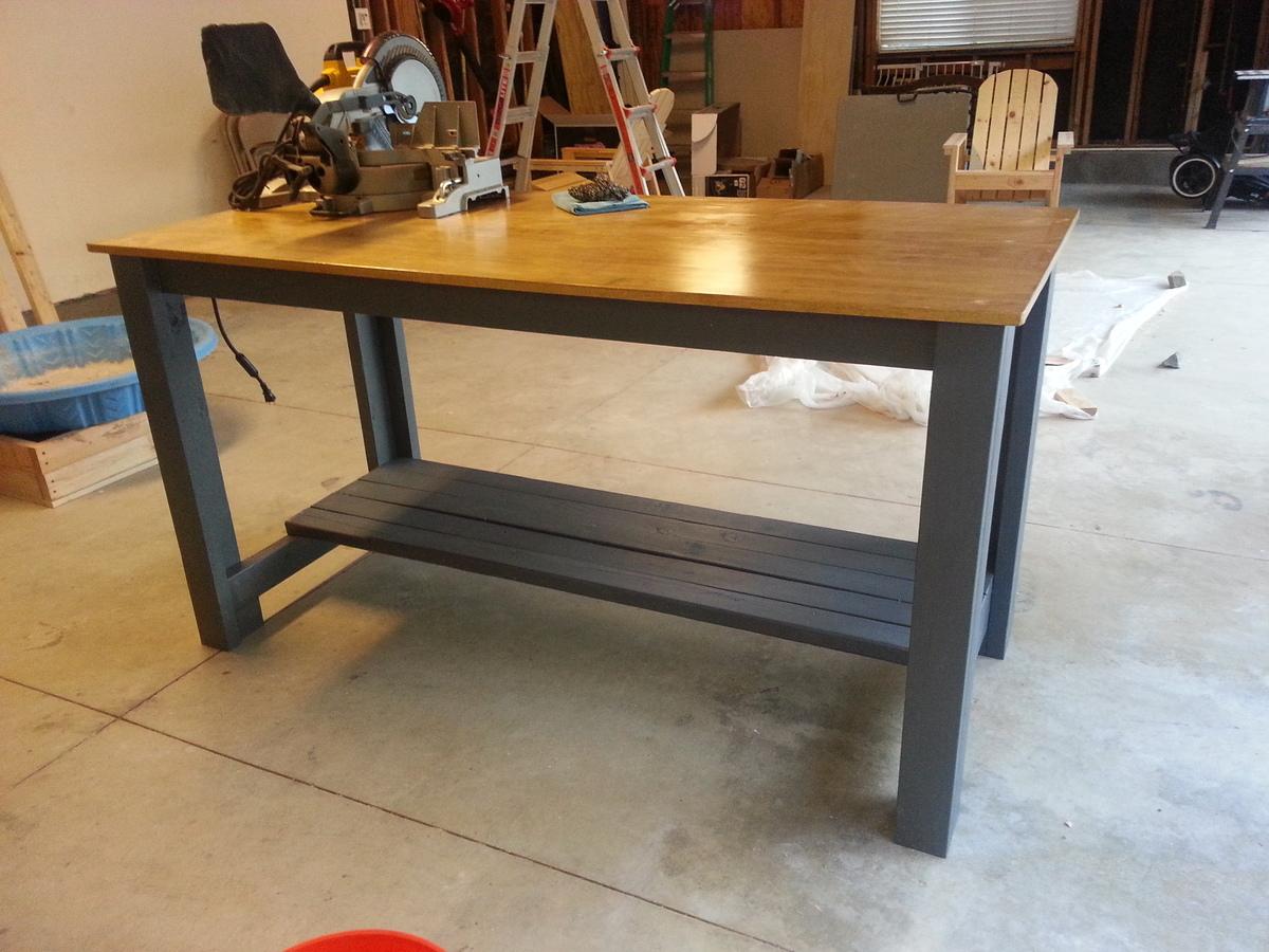 ana white | sturdy workbench modified - diy projects