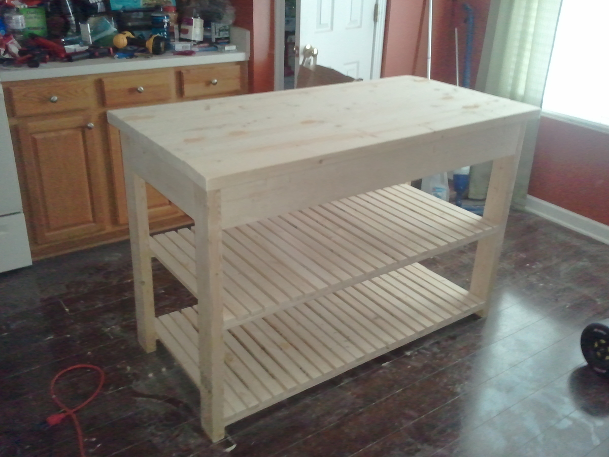 Do it yourself kitchen island - Do It Yourself Kitchen Island Ana White Kitchen Island Diy Projects