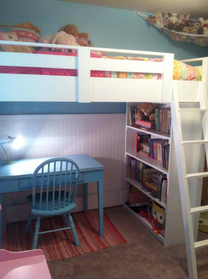 Ana White Sweet Girl S Loft Bed Diy Projects