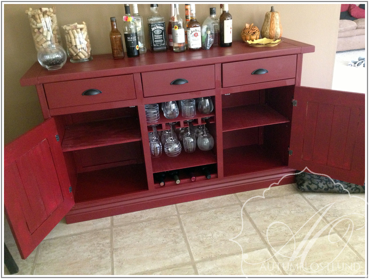 Ana White Red Sideboard Diy Projects