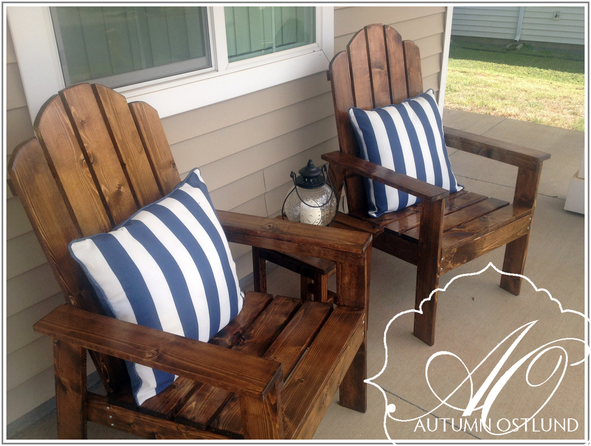 Ana white adirondack chairs diy projects for Chairs for front porch